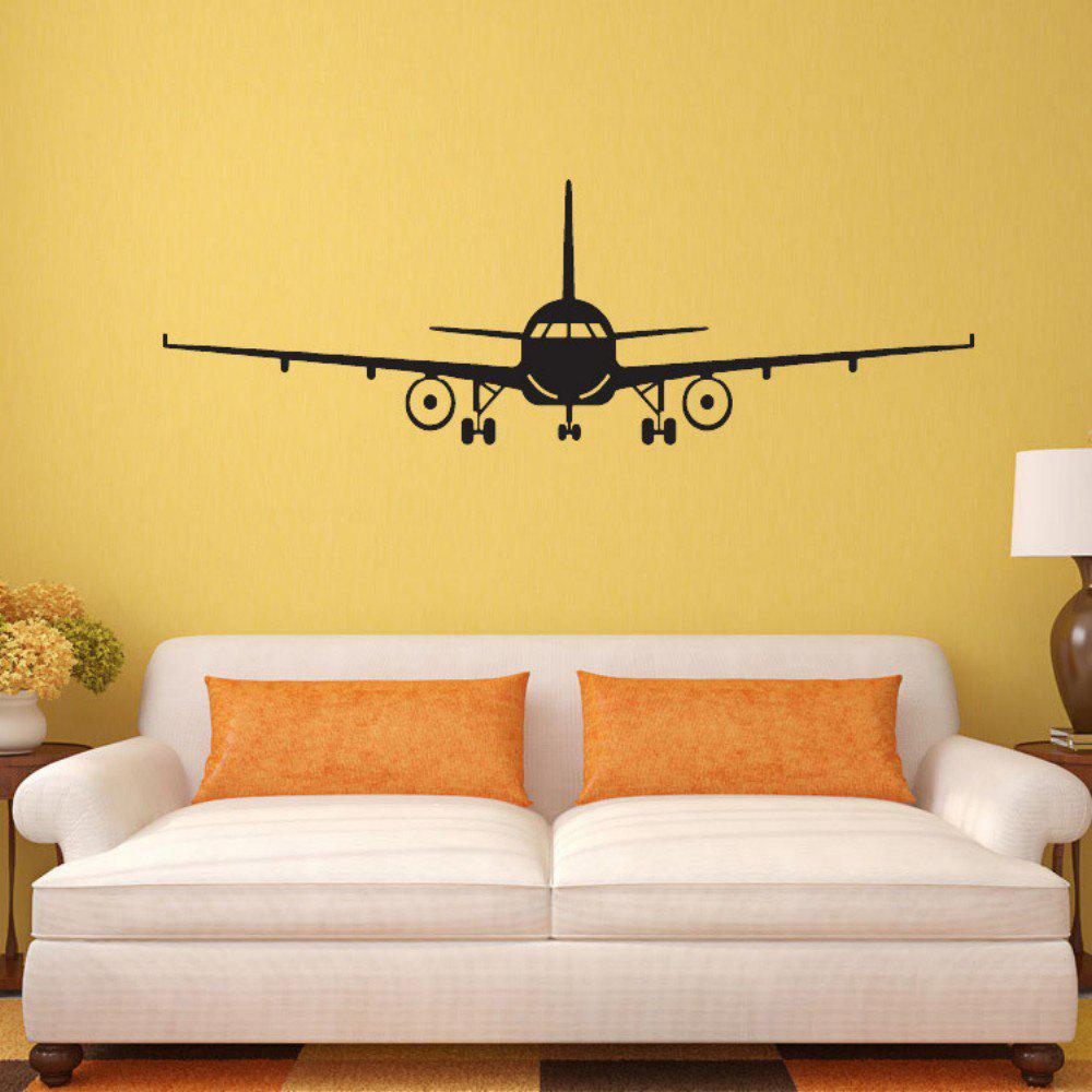 Black 42x132 Cm Airplane Vinyl Wall Sticker Airplane Wall Art Decal ...