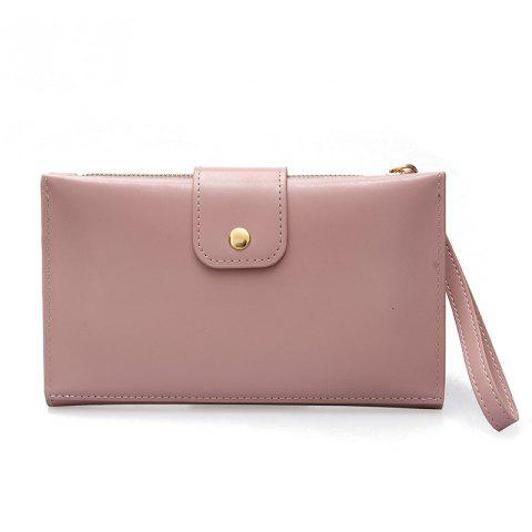 Hot New solid color casual lock large capacity multi-walled clutch women's fashion multi-functional wallet