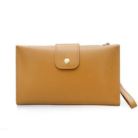 Fashion New solid color casual lock large capacity multi-walled clutch women's fashion multi-functional wallet