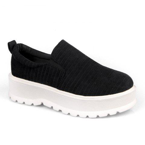 Fashion 2018 New Style Fashion Round Toe Solid Color Rubber Soled Shoes