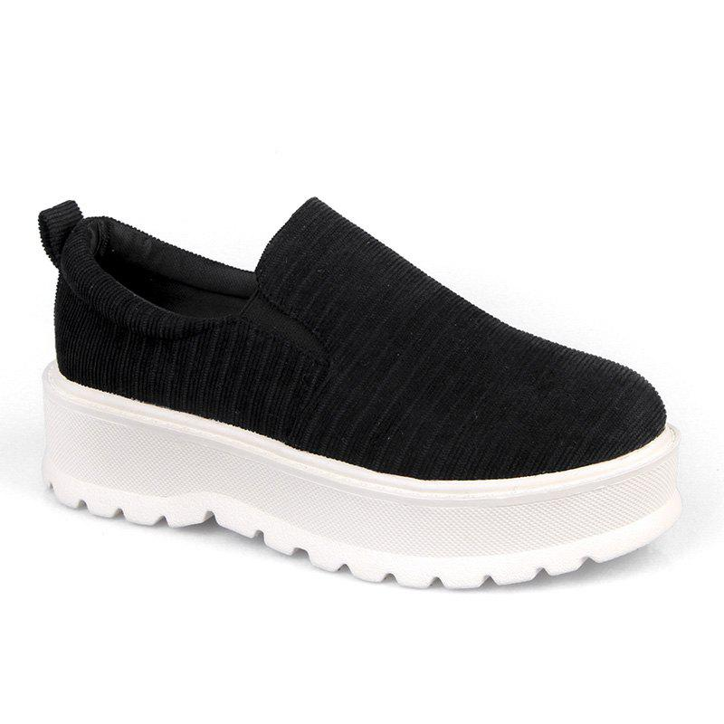 Trendy 2018 New Style Fashion Round Toe Solid Color Rubber Soled Shoes