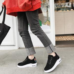 2018 New Style Simple Round Toe Solid Color Cloth Cover Shoes -