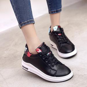 2018 New Style Fashion Solid Color Round Toe Increased Internal Non-Slip Rubber Sole Shoes -