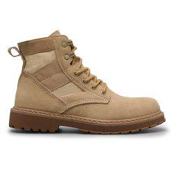 Male Martin Boots Winter Working Boots with High Upper -