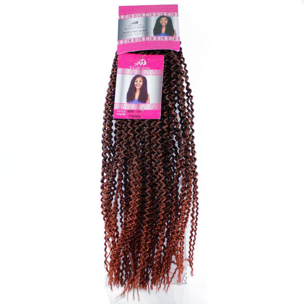 Chic 18 inch Synthetic Kinky Curly Hair Extension for Black Woman Brown Color