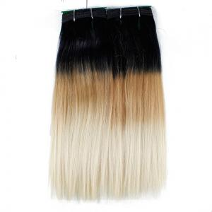 Ombre Synthetic  Straight Hair Extensions Hairpieces for Women 2PCS -