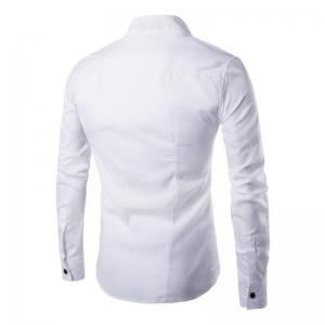 Men's Casual Simple Stand Collar Long Sleeves Shirts -