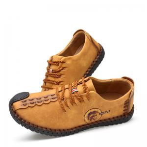 Men Casual Hiking Fashion Outdoor Sport Spring Autumn Leather Shoes -