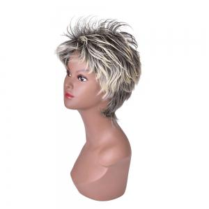 HairYouGo S44 Short Shaggy Layered Fluffy 13cm Cosplay High Temperature Fiber Wig -