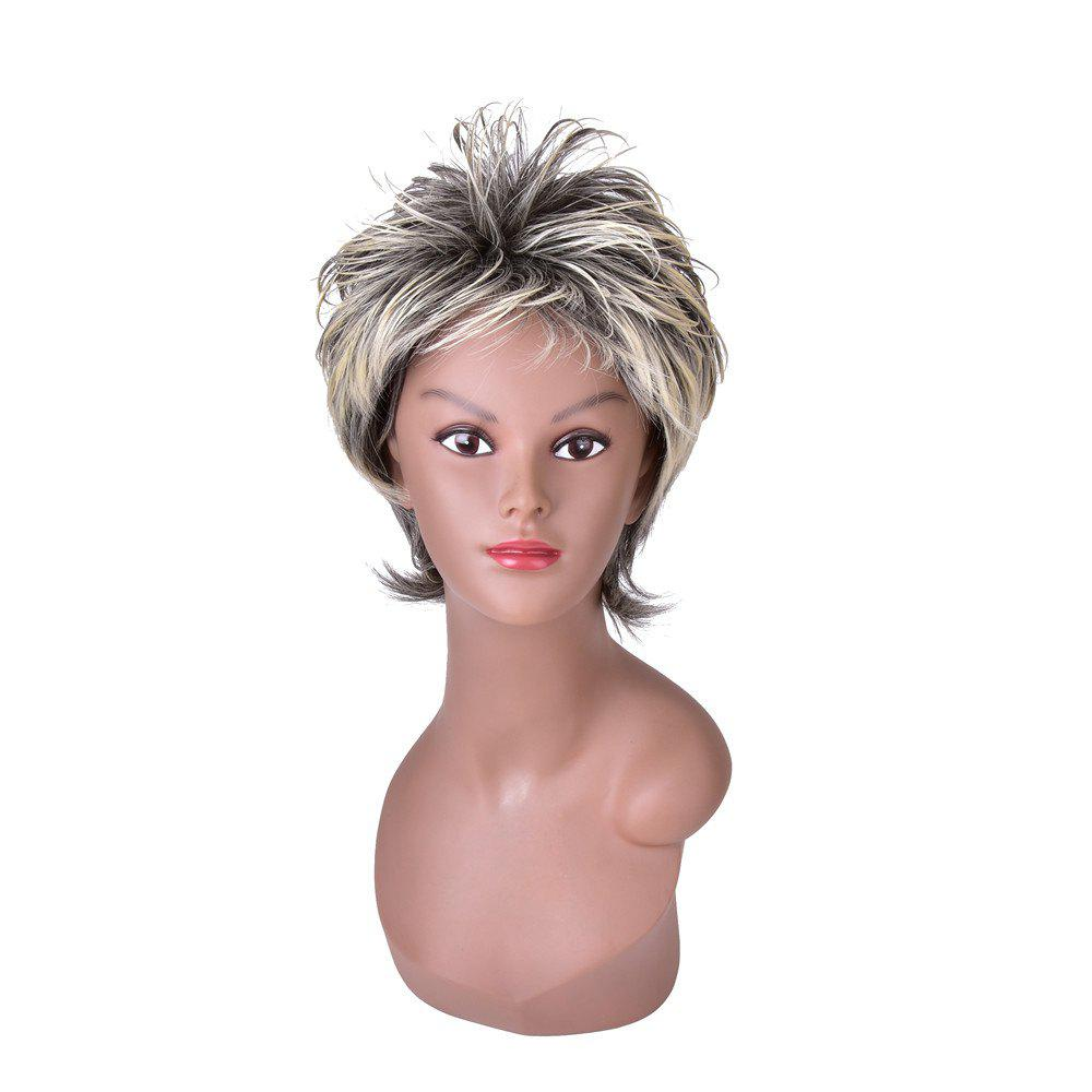 Best HairYouGo S44 Short Shaggy Layered Fluffy 13cm Cosplay High Temperature Fiber Wig
