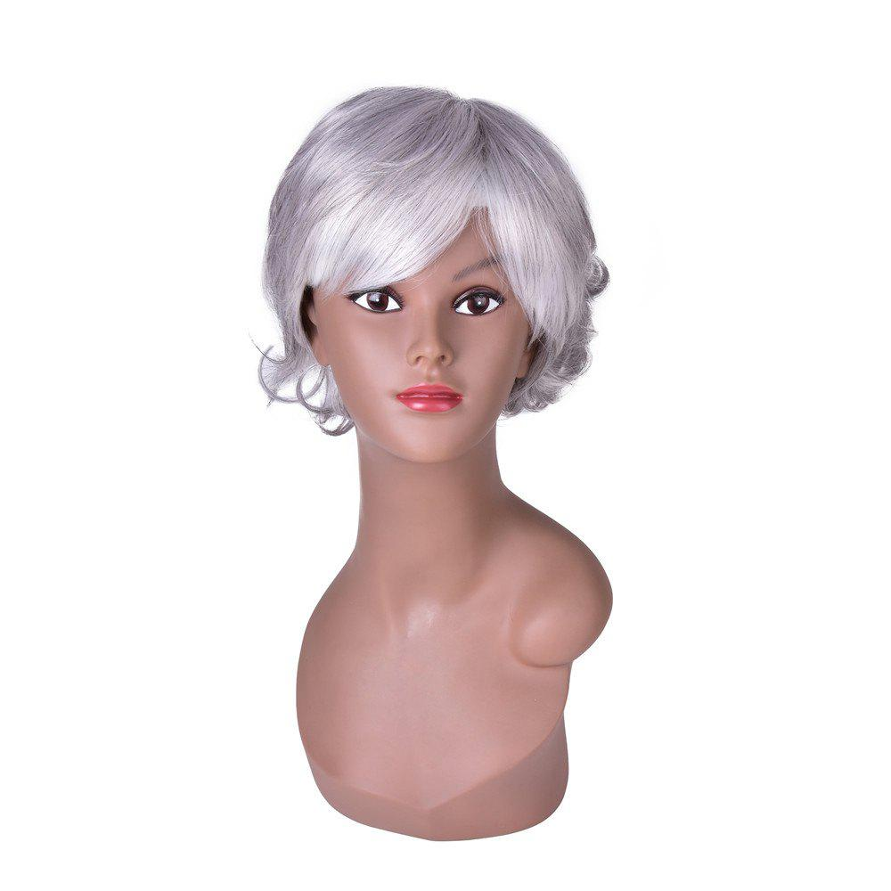 Online Hairyougo 0129 15cm Silver White High Temperature Fiber Short Curly Wig