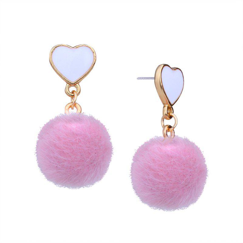Fashion Girl Small Heart-shaped Spherical Short Personality Earrings