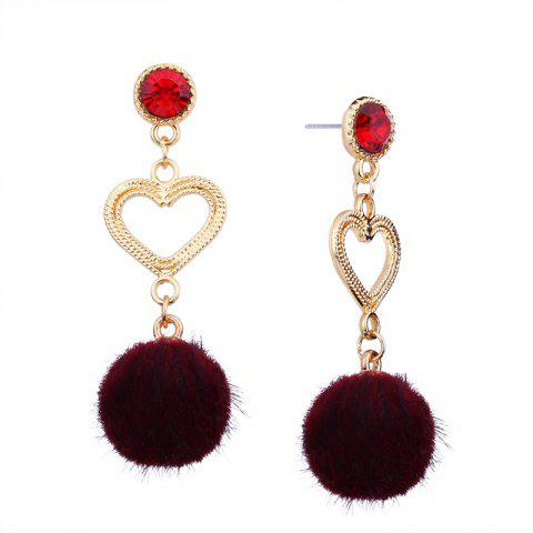 Shop Simple Personality Heart Rhinestone Earrings