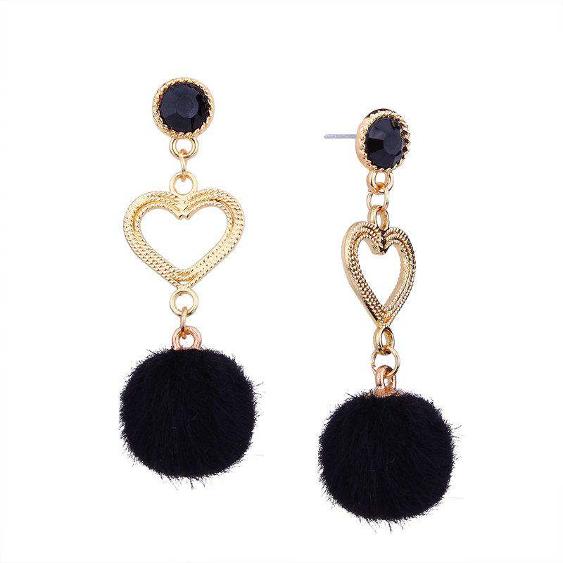 Fancy Simple Personality Heart Rhinestone Earrings