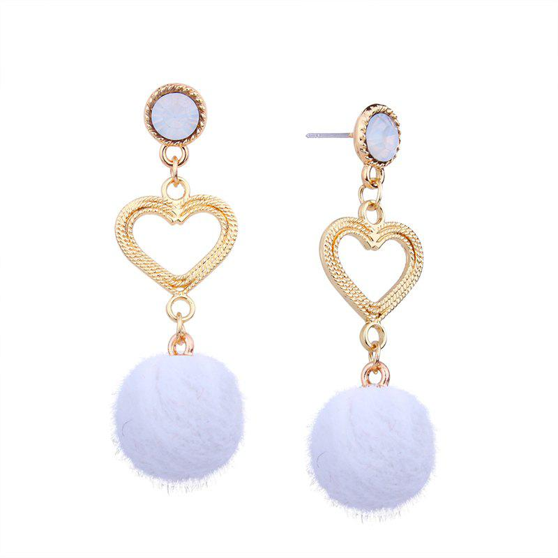 Unique Simple Personality Heart Rhinestone Earrings