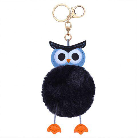Online Owl Styling Fur Flocculus Keychain