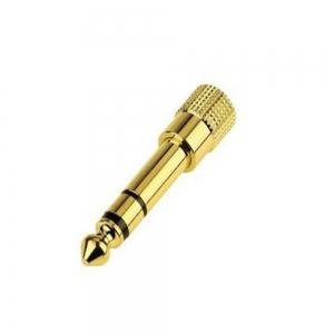 6.35MM (1/4 Inch) Male To 3.5MM (1/8 Inch) Female Stereo Audio Adapter -