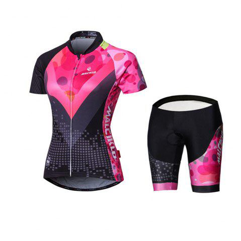Cheap Malciklo 18 New Products Summer Cycling Jersey Tights Woman Short Bike Compression Suits