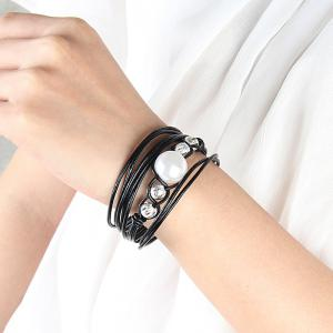 Hot Sale Ornaments Fashion Multi Level Magnet Buckle Transshipment Chain Hand Chain -