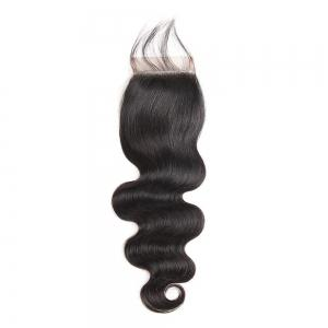 Brazilian Body Wave Lace Closure  Hair Natural Color -