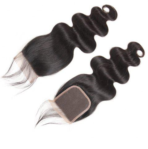 Hot Brazilian Body Wave Lace Closure  Hair Natural Color