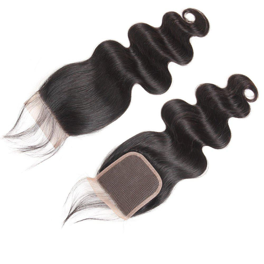 Discount Brazilian Body Wave Lace Closure  Hair Natural Color
