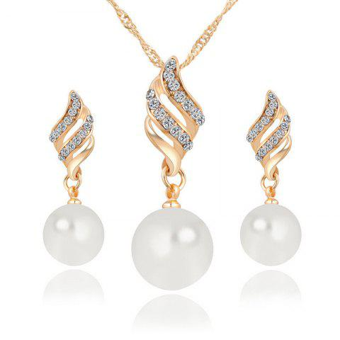 Shops Hot Style Lingling Pearl Earrings Necklace Set with Spiral Jewelry Korean Edition Simple Wind Accessories Suit