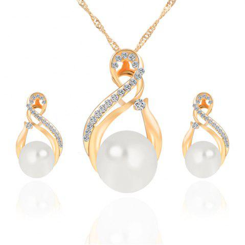 Fancy Korean Version of The New Necklace Earrings Set of Female South Korean  Pendant Jewelry Three-Piece Set