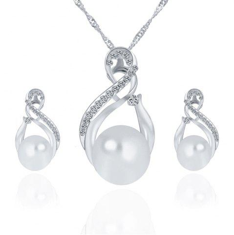 Outfit Korean Version of The New Necklace Earrings Set of Female South Korean  Pendant Jewelry Three-Piece Set