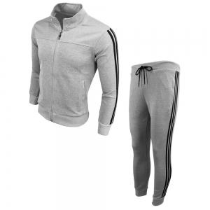 Men's Wear Spring and Autumn Wear and Fashion Leisure Sports Outdoor Fitness Stand Long Sleeve Coat Trousers Two Suits -