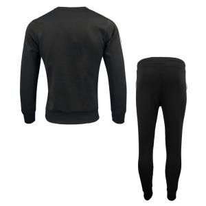 Menswear Spring and Autumn Pure Color Fashion Leisure Sports Outdoor Fitness Long Sleeve Health Suit Trousers Two Suits -