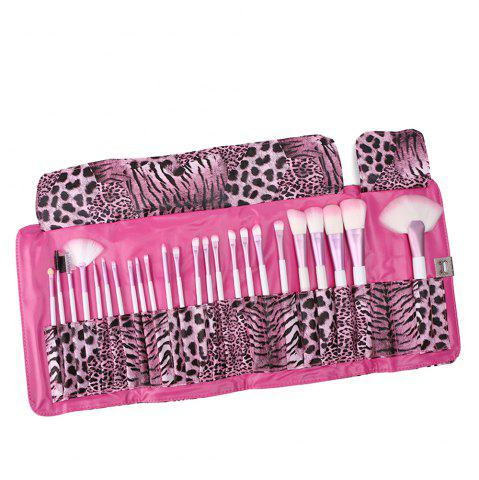 Store 24 Piece Pink Leopard Brush Set