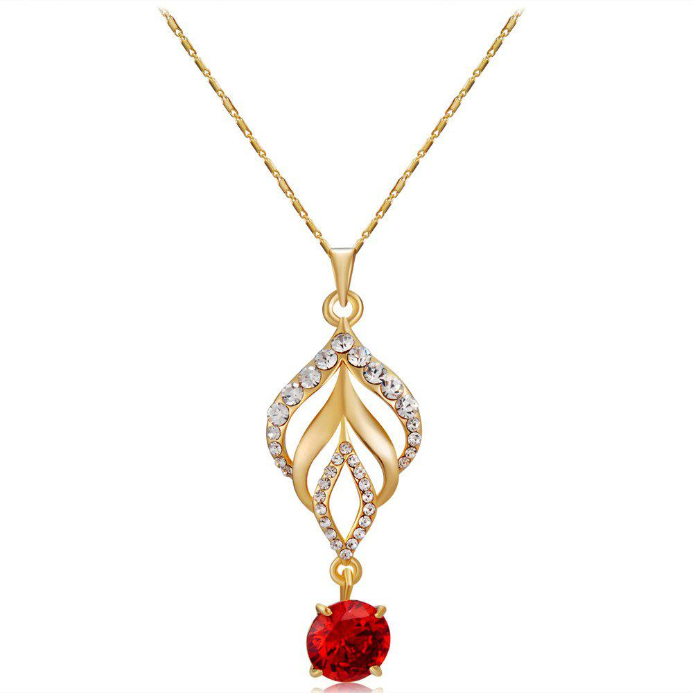 Shops Torch Red Rhinestone Crystals Inlaid Pendant Necklace