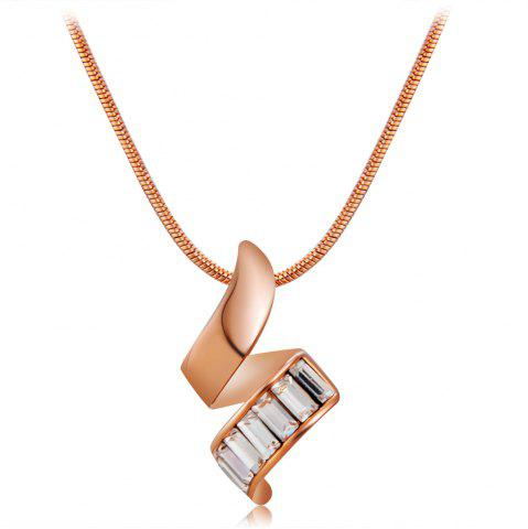 Chic Twisted Crystals Inlaid Pendant Necklace