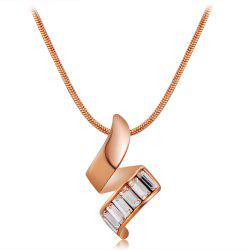 Twisted Crystals Inlaid Pendant Necklace -