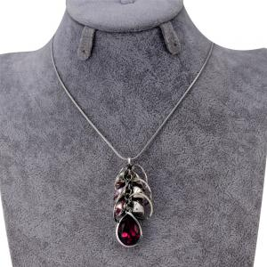 Creative Circles Purple Crystal Pendant Necklace for Women -