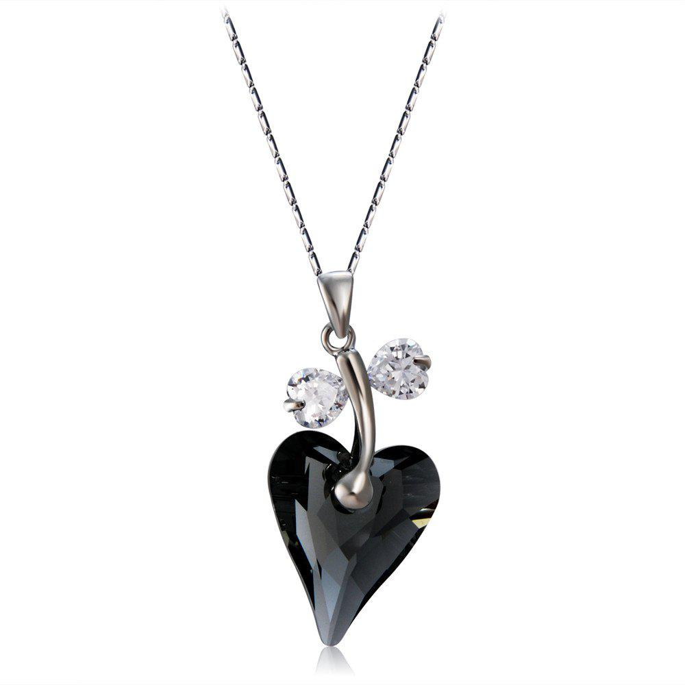 Online Fashionable Heart Shaped Crystal Pendant Necklace