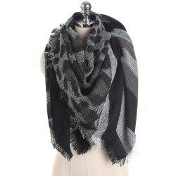 M1715 Leopard Camouflage Stripes Fringed Scarf -
