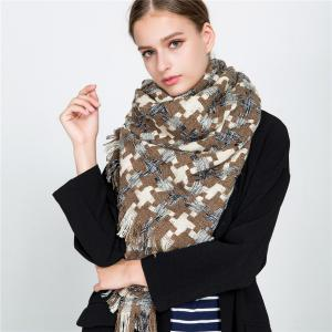 M1716 Houndstooth Cashmere Color Scarf -