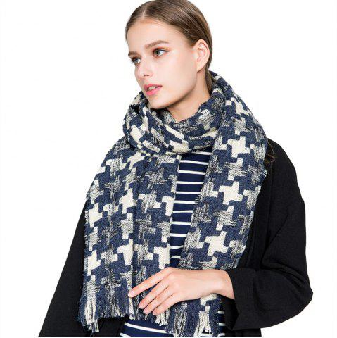 Latest M1716 Houndstooth Cashmere Color Scarf