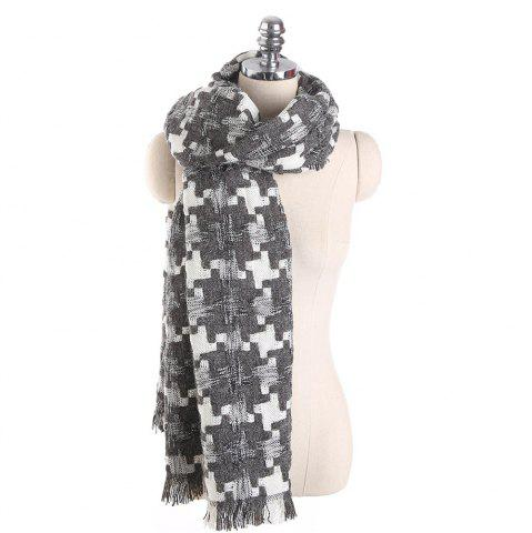 Fashion M1716 Houndstooth Cashmere Color Scarf