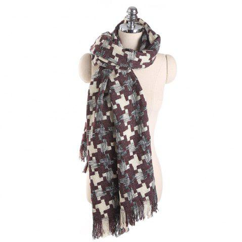 Shop M1716 Houndstooth Cashmere Color Scarf