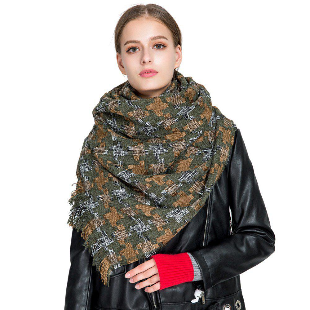 Shops M1716 Houndstooth Cashmere Color Scarf