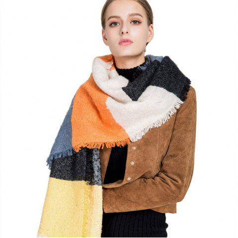 New M1717 Rainbow Collage Sand Sequins Scarf