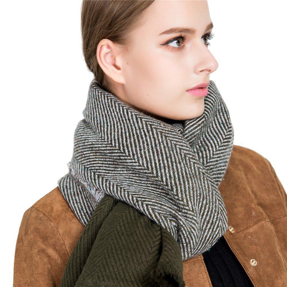 Outfits M1718 Herringbone Mosaic Gold Napped Scarf
