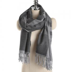 M1729 Slanted Striped Splice Scarf -