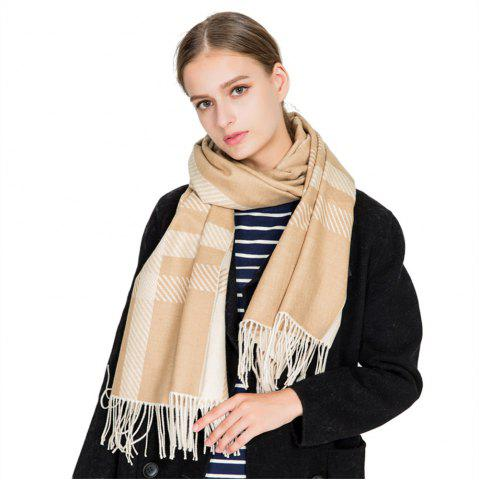 Best M1729 Slanted Striped Splice Scarf