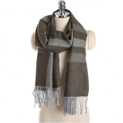 Outfit M1729 Slanted Striped Splice Scarf