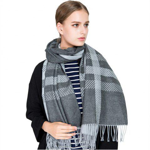 Discount M1729 Slanted Striped Splice Scarf