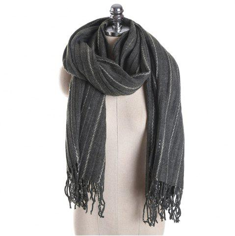 Buy M1733 Imitation Cashmere Dotted Line Fringes Warm Scarf